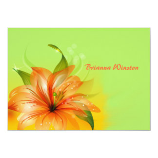 Lily Dew Personalized Notecard