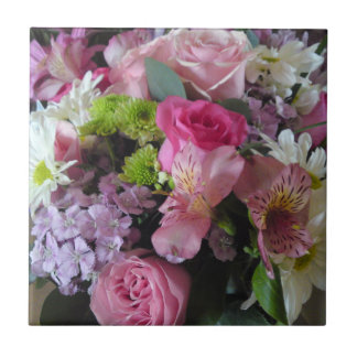 Lily Dianthus Rose Daisy Flower Mix Tile