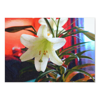 Lily digital sim oil on canvas card