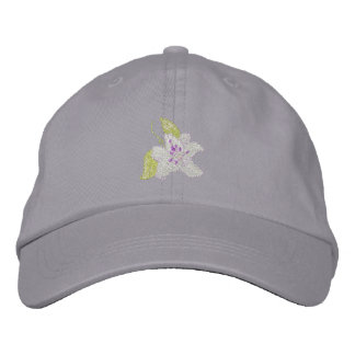 Lily Embroidered Baseball Cap