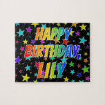 """[ Thumbnail: """"Lily"""" First Name, Fun """"Happy Birthday"""" Jigsaw Puzzle ]"""