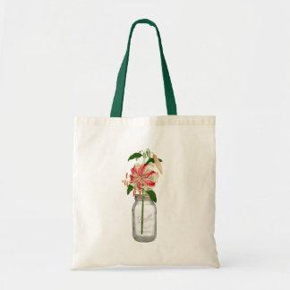 Lily fleur dans un pot Mason Budget Tote Bag