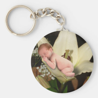 Lily Flower Baby Keychain