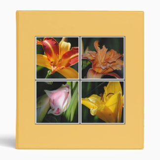 Lily Flower Collage Avery Binder