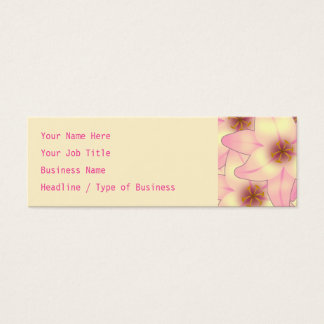Lily Flower Design Mini Business Card