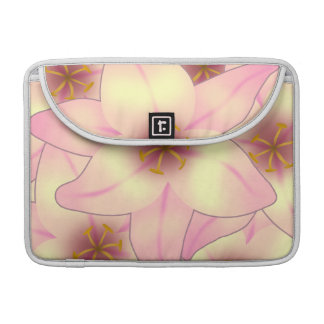 Lily Flower Design Sleeve For MacBook Pro