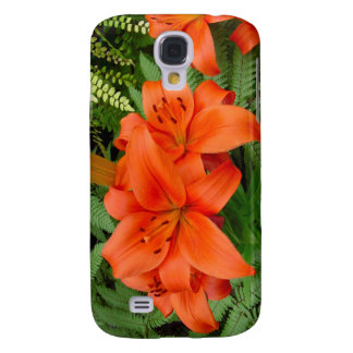 Lily flower - Iridescent orange (M 28-30) Samsung Galaxy S4 Cover