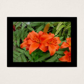 Lily flower - Iridescent orange (Matt 28-30) Business Card