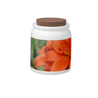 Lily flower - Iridescent orange (Matt 28-30) Candy Dishes
