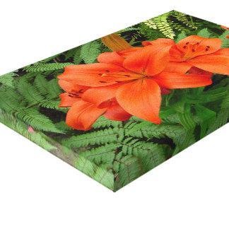 Lily flower - Iridescent orange (Matt 28-30) Gallery Wrapped Canvas