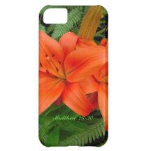 Lily flower - Iridescent orange (Matt 28-30) iPhone 5C Cover