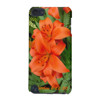 Lily flower - Iridescent orange (Matt 28-30) iPod Touch 5G Case