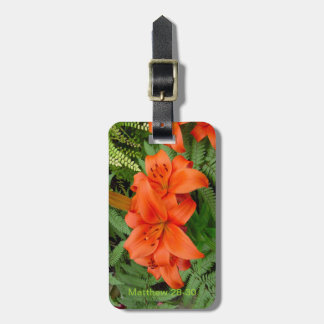 Lily flower - Iridescent orange (Matt 28-30) Bag Tag