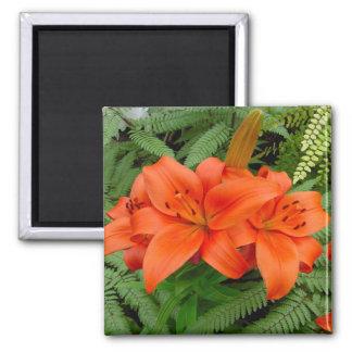 Lily flower - Iridescent orange (Matt 28-30) Magnets