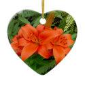 Lily flower - Iridescent orange (Matt 28-30) Christmas Tree Ornaments