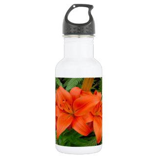 Lily flower - Iridescent orange (Matt 28-30) 18oz Water Bottle