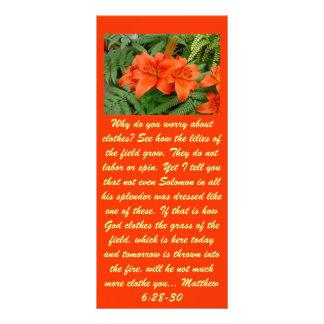 Lily flower - Iridescent orange (Matt 28-30) Custom Rack Cards