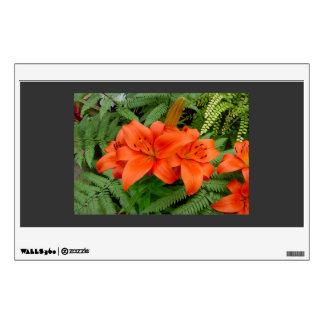 Lily flower - Iridescent orange (Matt 28-30) Wall Graphic