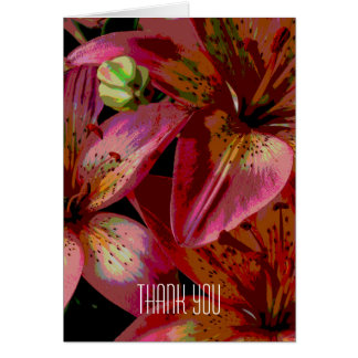 Lily Flower Thank You Card