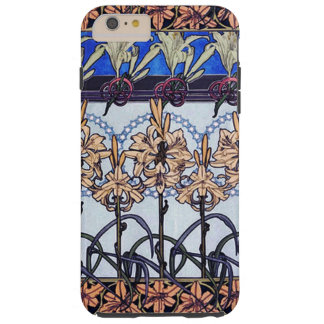 Lily Flowers Alphonse Mucha Case Tough iPhone 6 Plus Case