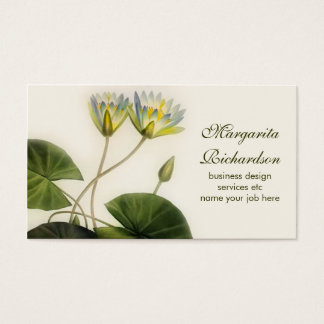 lily flowers business card