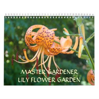 LILY FLOWERS CALENDARS Master Gardener gifts