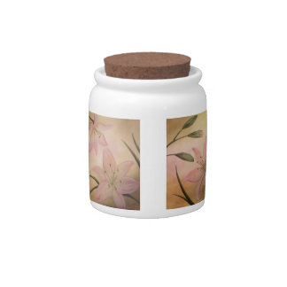 Lily Flowers Candy Jar