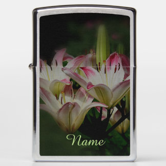 Lily Flowers Personalized Nature Zippo Lighter