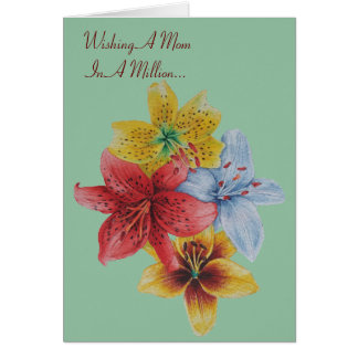 lily flowers pretty floral mom versed greeting greeting card