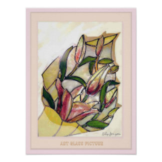 Lily for You Modern Flower Art Poster