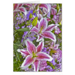 Lily Garden Floral Blank Note Card