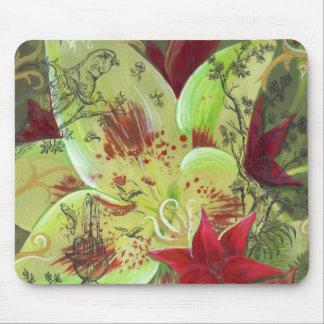 Lily Garden Mouspad Mouse Mat