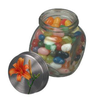 Lily Glass Candy Jar