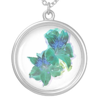 Lily Glow Round Pendant Necklace