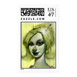 """""""Lily Green"""" Postage Stamp"""