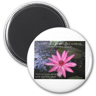 LILY GREETINGS 2 2 INCH ROUND MAGNET