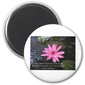 LILY GREETINGS 3 2 INCH ROUND MAGNET