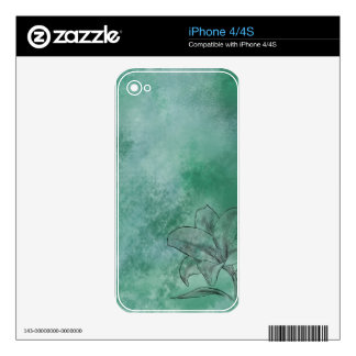 Lily in Blue iPhone 4 Skin