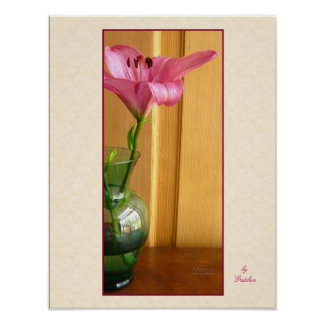 Lily in Green Vase Poster by Gretchen