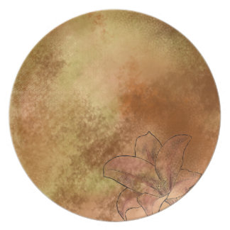Lily in Orange Plate