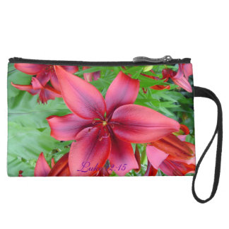 Lily - Iridescent Red (Luke 12:15) Wristlet Clutch