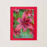 Lily - Iridescent Red (Luke 12:15) Puzzle