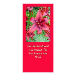 Lily - Iridescent Red (Luke 12:15) Rack Card