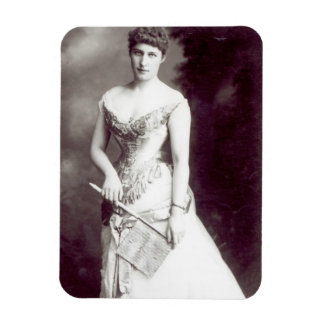 Lily Langtry (1853-1929) performing at the Haymark Rectangular Photo Magnet