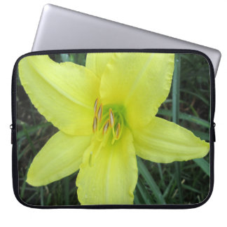 Lily Lemon Yellow Computer Sleeve