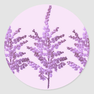 LILY Lilly Cream Voilet Purple Pink Moonshine Classic Round Sticker
