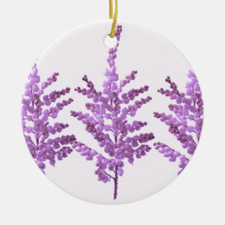 LILY LILLY Flower - Moonshine Violet Voilet Double-Sided Ceramic Round Christmas Ornament