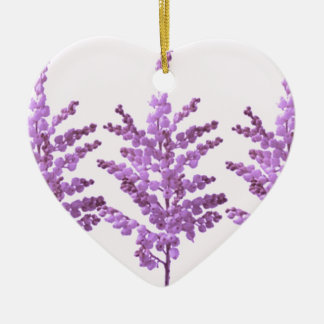 LILY LILLY Flower - Moonshine Violet Voilet Double-Sided Heart Ceramic Christmas Ornament