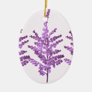 LILY LILLY Flower - Moonshine Violet Voilet Double-Sided Oval Ceramic Christmas Ornament