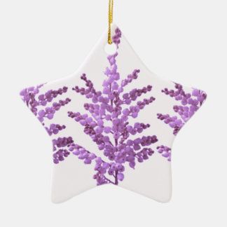 LILY LILLY Flower - Moonshine Violet Voilet Double-Sided Star Ceramic Christmas Ornament